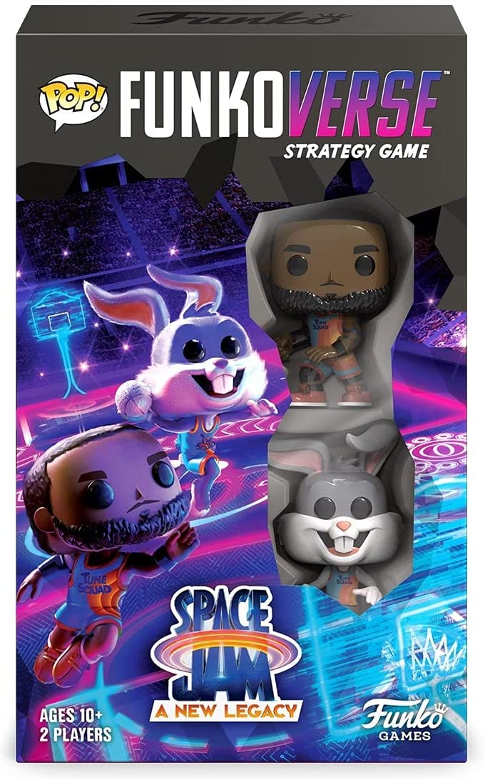 Funko Verso: Space Jam 2: A New Legacy 100 Paquete de 2, Lebron James and Bugs Bunny