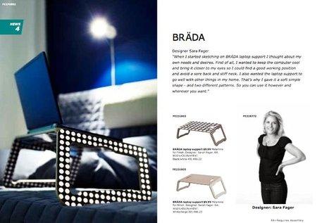 Los nuevos soportes para portátiles del catálogo de Ikea 2011.