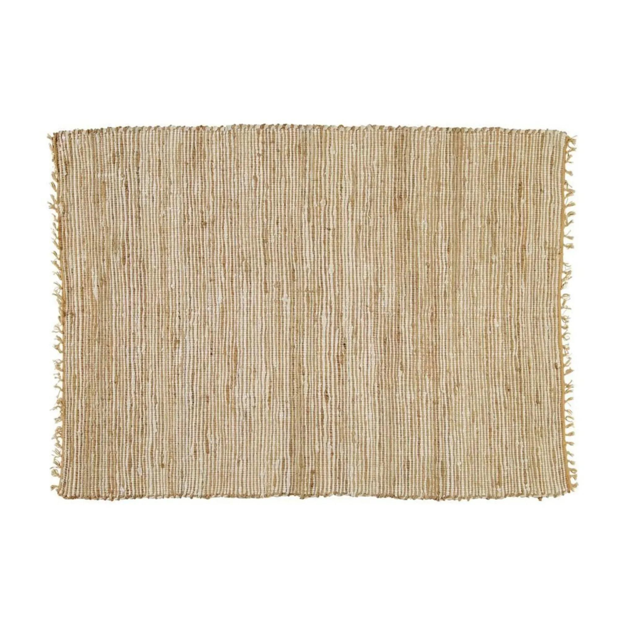 LODGE.- Alfombra trenzada de algodón y yute 200 x 300 cm