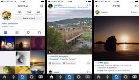 Instagram se actualiza, nueva versión compatible con iOS 7 que sabe a poco a nivel interfaz