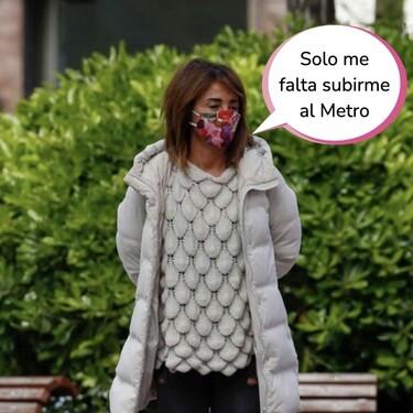 María Patiño, pillada en chándal y con cara de recién levantada paseando por Madrid
