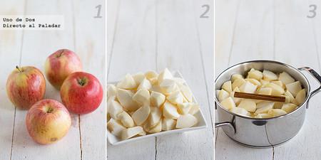 Compota de manzana. Receta paso a paso