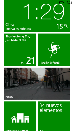 Windows Phone 8 pantalla