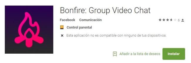 Bonfire No Compatible