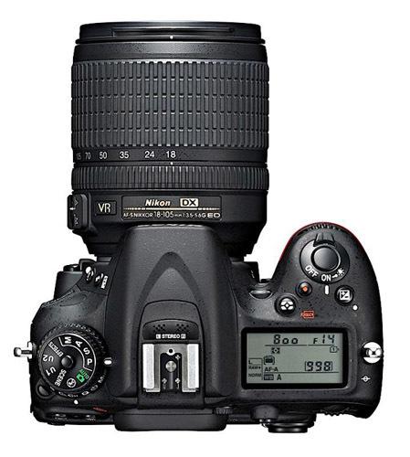 Nikon D7100 desde arriba