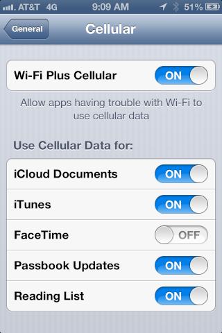 Wi-Fi Plus Cellular o cómo permanecer conectado en iOS 6 sin cortes