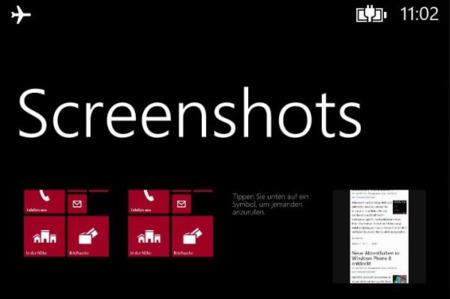 Habrá capturas de pantalla en Windows Phone 8