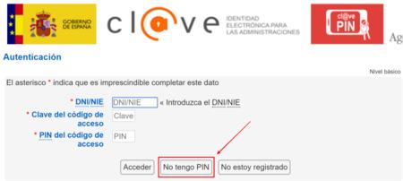 No tengo PIN