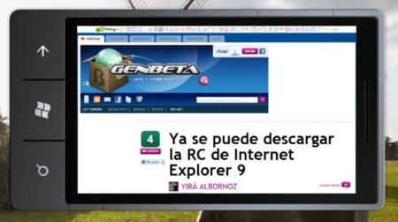 Internet Explorer Mobile 9 llegará a Windows Phone 7 a mediados de año