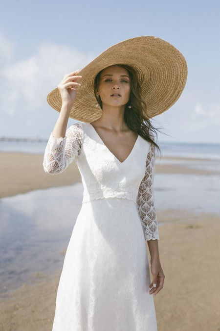 e86448aa940 Vestidos de novia de manga larga para que el frío no desluzca tu boda