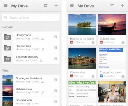 Tras YouTube, Google actualiza Google Drive para iOS con un nuevo diseño