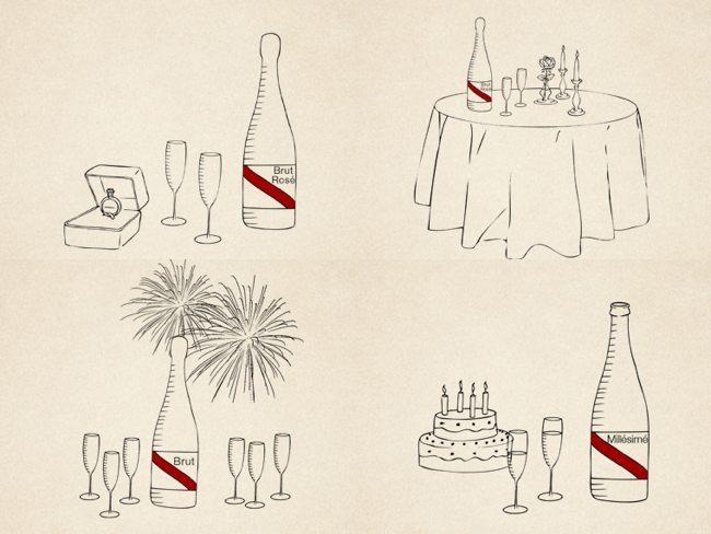 Protocolo champán - elección