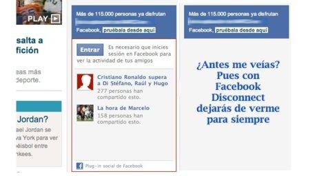 Facebook Disconnect, una extensión de Chrome que hace invisibles los cuadros de Facebook