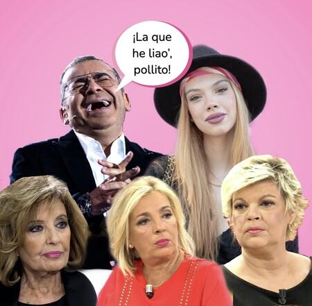 ¡Sálvame! Jorge Javier Vázquez atiza a las Campos y aplaude la actitud de Alejandra Rubio en Telecinco