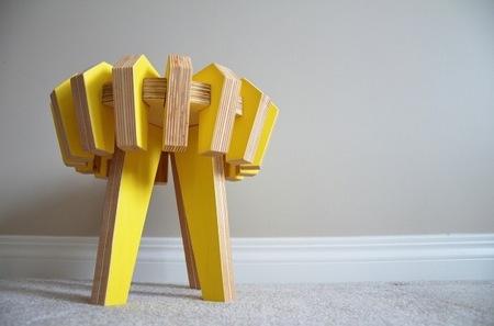 Taburete y puzzle para niños, dos en uno