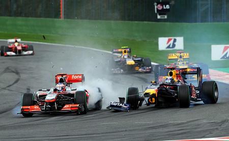 Spa 2010 Jenson Button Sebastian Vettel