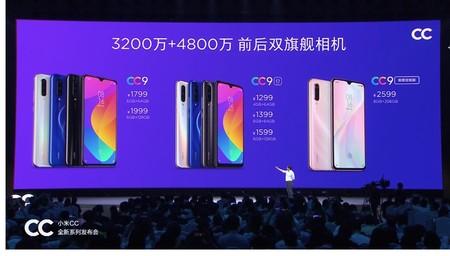 Los Xiaomi CC9, CC9e y CC9 Meitu Custom Edition
