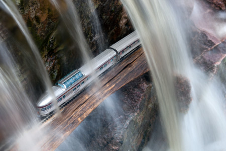 Canadian Dome Car Waterfall