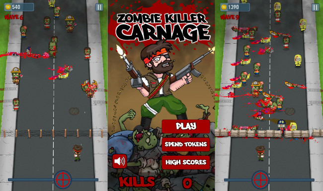 Zombie Killer Carnage, Blood and Guts for a Bloody and Zombificado Space Invaders