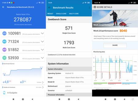 Redmi Note 9 Pro Benchmarks