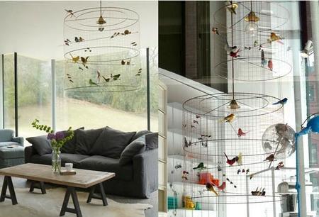 Dale un toque natural a tu casa con esta lámpara de pájaros