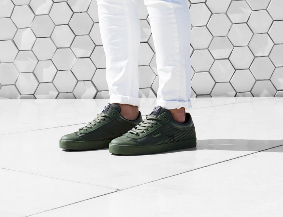 Zapatillas en color oliva