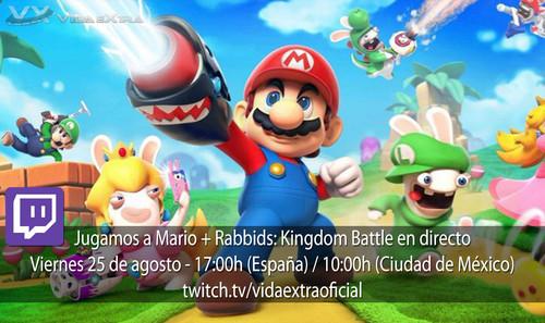 Streaming de Mario + Rabbids: Kingdom Battle a las 17:00h (las 10:00h en Ciudad de México) [finalizado]