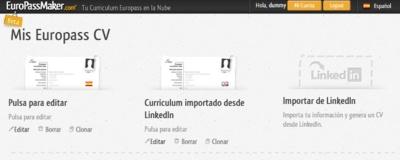 EuroPassMaker ya permite importar datos desde LinkedIn