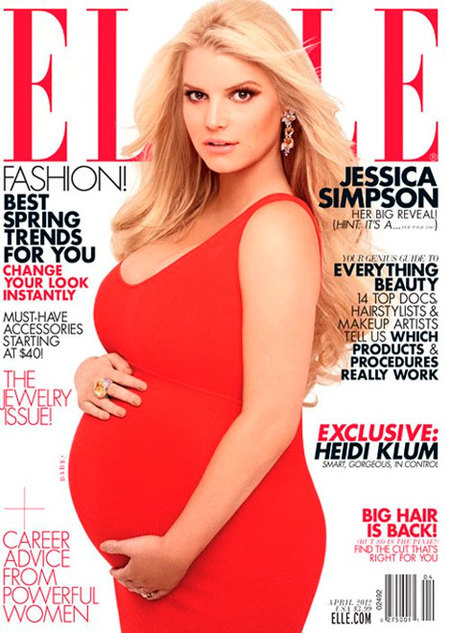¡Jessica Simpson y al rico embarazo en pelota picada!