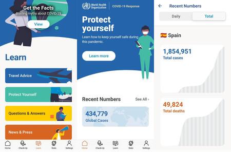 La Organización Mundial de la Salud lanza al fin su aplicación de información de COVID-19