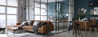 Este pequeño apartamento de 46 m2 en Kiev desafía las normas del color con el uso del negro y de tonos oscuros