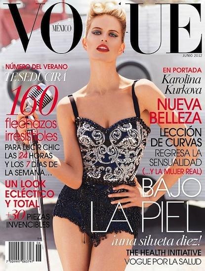 El maquillaje perfecto de Karolina Kurkova en Vogue México