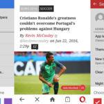 Opera Mini incluye un contador de anuncios bloqueados, temas de color y más