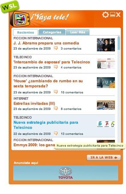 ¡Vaya Tele! y todo Weblogs SL en tu escritorio