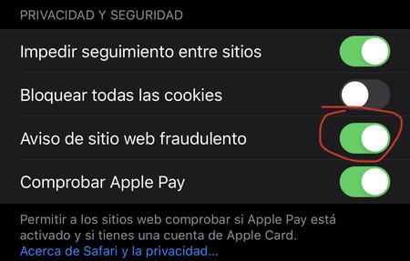 Aviso Web Fraudulenta Ios