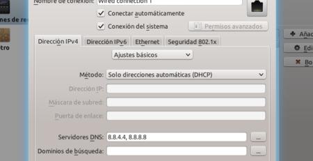 Diálogo de configuración en KDE