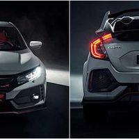 Aquí tienes las fotos que aún no deberías ver del bestial Honda Civic Type R, por delante y por detrás