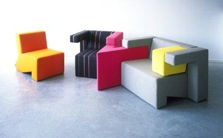 Asientos modulares coloristas y originales, por Studio Lawrence