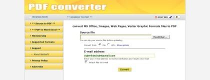 PDF Converter, sencillo conversor de archivos online a PDF