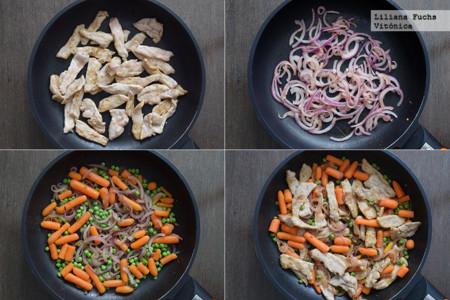 Salteado de Cerdo y Verduras. Pasos