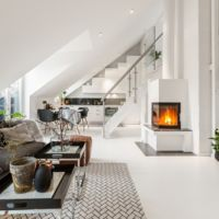 Un ático minimalista y con chimenea ¿Qué cambios harías en él?