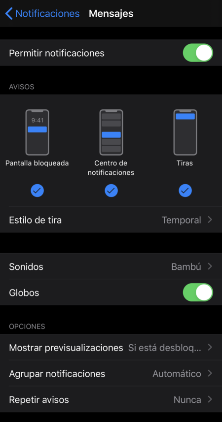Notificaciones Imessage 1