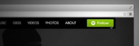 El botón de 'Seguir' de Spotify ya puede incluirse en cualquier página web