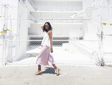 Aimee Song Of Style White Cameo Bustier Culottes