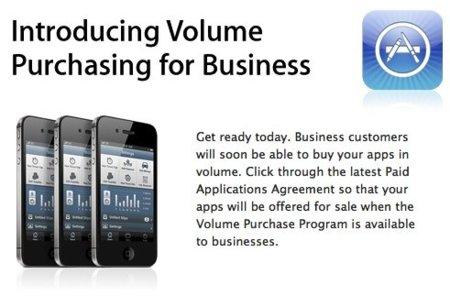 compras por volumen app apple store aplicaciones licencias