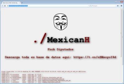MexicanH Team hackeo el portal de la Cámara de Diputados, hace pública una enorme base de datos