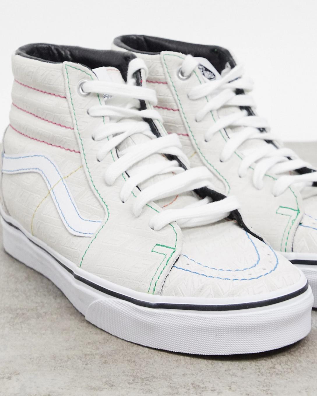 Zapatillas blancas repujadas SK8-Hi de Vans