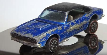 Así se restaura un Camaro de 1968, pero de Hot Wheels, oxidado y de 2 dólares