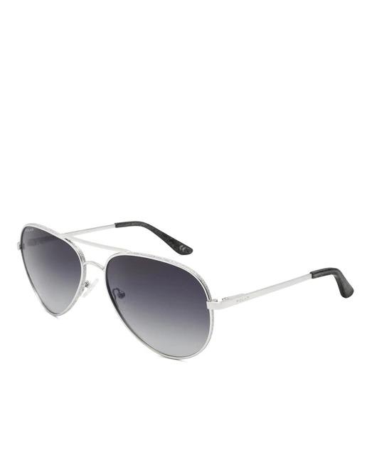 Gafas de sol unisex Polar aviador de metal en tono plata con lentes polarizadas