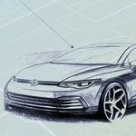 El Volkswagen Golf 2020 da la cara con un par de bocetos y por fin muestra su interior